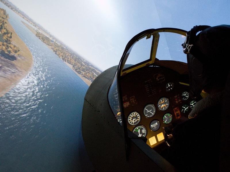 Letecký simulátor stíhačky Supermarine Spitfire